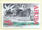 WW II attack on Aruba stamp